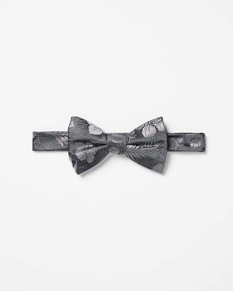Express Palm Print Silk Bow Tie
