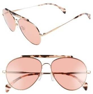 Women's Tommy Hilfiger 58Mm Aviator Sunglasses - Gold/ Copper $155 thestylecure.com