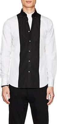 Alexander McQueen Men's Colorblocked Poplin Shirt