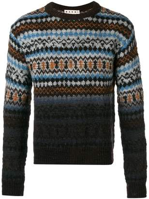 Marni fairisle turtle-neck sweater