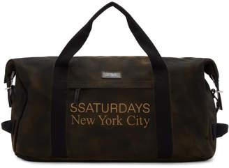 Saturdays NYC (サタデーズ ニューヨーク) - Saturdays Nyc Saturdays NYC SSENSE 限定 ブラウン Norfolk ホールドオール ダッフル バッグ