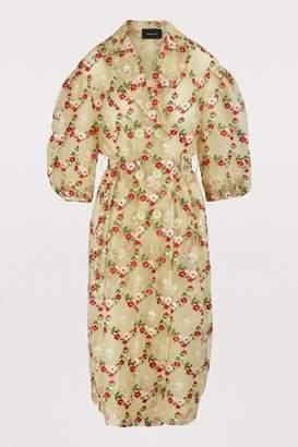 Simone Rocha Floral print trench coat