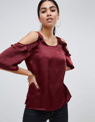 AX Paris Lace Cold Shoulder Top