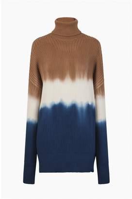 Sonia Rykiel Cotton-Blend Turtleneck Sweater
