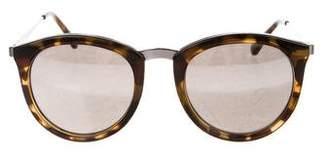 Le Specs Tortoiseshell Mirrored Sunglasses