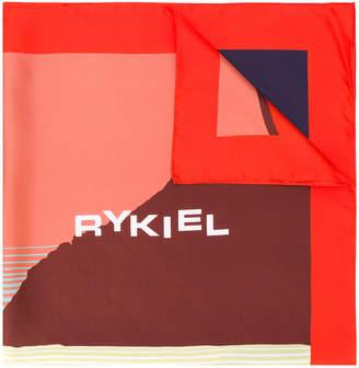 Sonia Rykiel abstract logo print scarf
