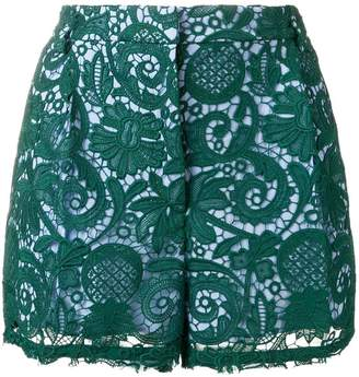 No.21 paisley embroidered shorts