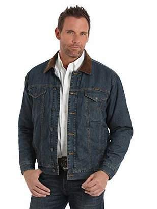 b2a1abd5c8 Wrangler Men s Big and Tall Western Concealed Carry Blanket Lined Denim  Jacket