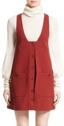 Women's Chloe Wool Crepe Jumper Dress $1,395 thestylecure.com
