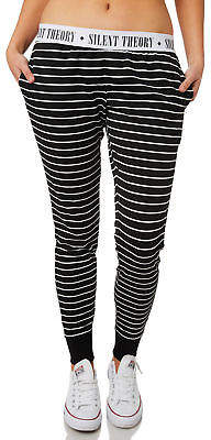 Silent Theory New Women's Out Of Line Pant Cotton Polyester Elastane