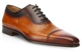 Saks Fifth Avenue COLLECTION BY MAGNANNI Two-Tone Leather Cap-Toe Oxfords