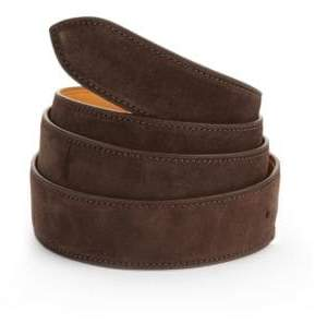 Corthay Dark Brown Suede Belt