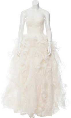 Vera Wang Strapless Lace Wedding Gown $1,245 thestylecure.com
