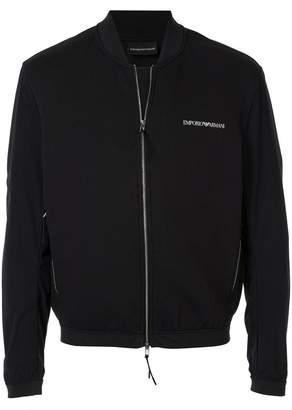 Emporio Armani logo print bomber jacket