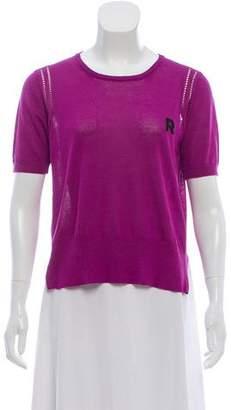Rochas Short Sleeve Knit Top