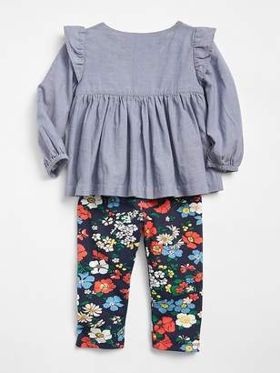 Gap Chambray Floral Set