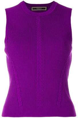 Versace ribbed sleeveless jumper