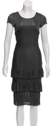Chanel Ruffled Knit Dress