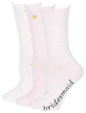 Kate Spade Three-Pack Bridesmaid Socks Set