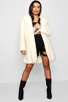 boohoo Boutique Teddy Faux Fur Chuck On Coat