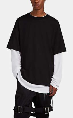 7a912c9d9 Mastermind Japan Men's Oversized Layered-Effect Long-Sleeve Cotton T-Shirt  - Black