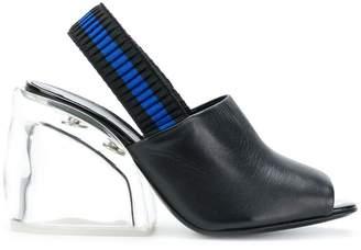 3.1 Phillip Lim Plexi Heel Slingback sandals