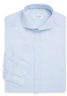 Eton Pinstriped Super Slim-Fit Cotton Dress Shirt