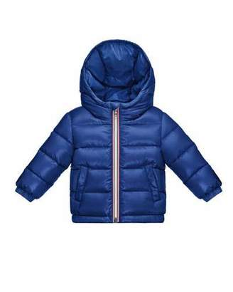 Moncler Aubert Quilted Zip-Front Puffer Jacket, Blue, Size 12M-3 $340 thestylecure.com