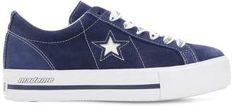 c46d9e75f4510a Converse X Mademe Mademe One Star Suede Platform Sneakers