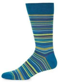 Bugatchi Multicolored Linear Socks