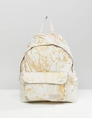 Eastpak Padded Pak'r Superb White Marble Backpack