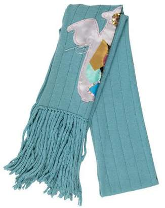 Christian Lacroix Embellished Knit Scarf