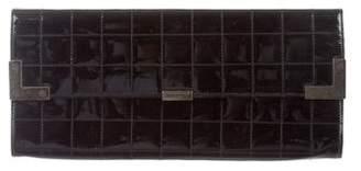 Chanel Patent Square Quilt Clutch