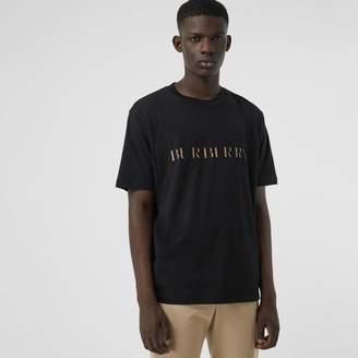 Burberry Check Logo Cotton T-shirt