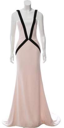 Elizabeth Kennedy Sleeveless Colorblock Gown