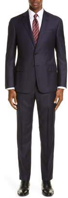 Emporio Armani Trim Fit Check Wool Suit