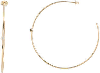 Chicco Zoe Bezel Set Diamond Accent Hoops