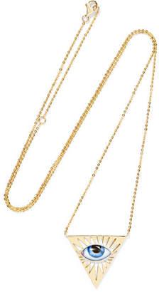 Lito - Tu Es Partout 14-karat Gold Enamel Necklace