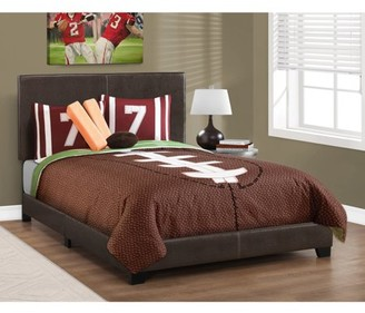Monarch Specialties Leather-Look Full Bed
