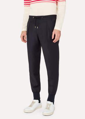 Paul Smith Men's Navy Wool Casual Pants
