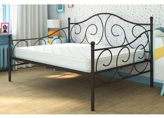 DHP Victoria Full Size Metal Daybed with Mattress, Multiple Colors