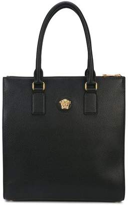 Versace flat shoulder bag with gold medusa