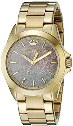 Juicy Couture Women's 1901285 Malibu Analog Display Quartz Gold Watch $205 thestylecure.com
