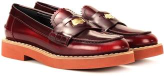 Miu Miu Leather penny loafers