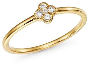 Bloomingdale's KC Designs 14K Yellow Gold Diamond Clover Stacking Ring