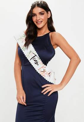 Missguided Gold Foiled Team Bride Sashes