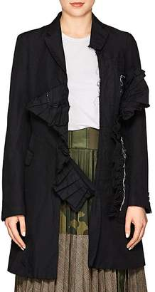 Comme des Garcons Women's Wrinkled Twill Three-Button Coat