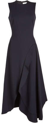 Victoria Beckham Sleeveless Asymmetric Ruffle Dress