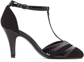 CASTALUNA Wide-Fit T-Strap Heels, Sizes 38-45