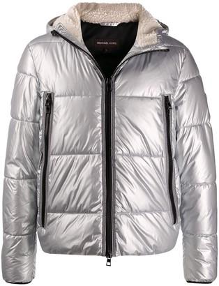 Michael Kors padded hooded jacket